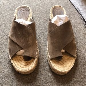 Vince suede espadrille sandals size 39